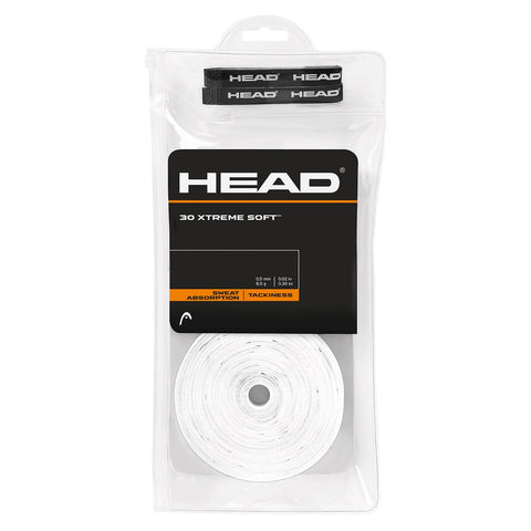HEAD Xtreme Soft Overgrips 30 Pack (White) - RacquetGuys