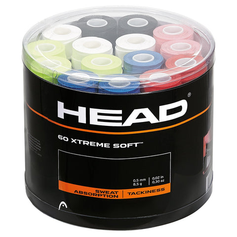Head Xtreme Soft Overgrips 60 Pack Jar (Assorted Colours)
