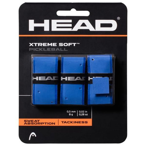 HEAD Xtreme Soft Pickleball Overgrips 3 Pack (Blue) - RacquetGuys