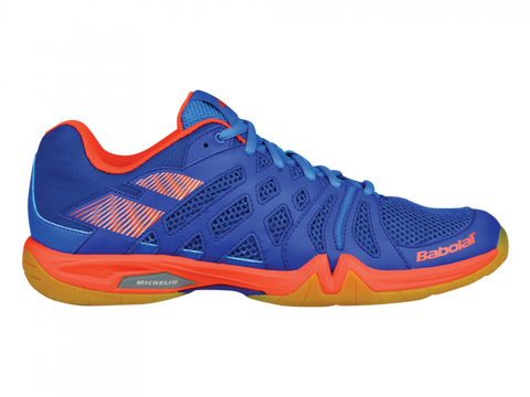 Babolat Shadow Team Men's Indoor Court Shoe (Blue/Orange) - RacquetGuys