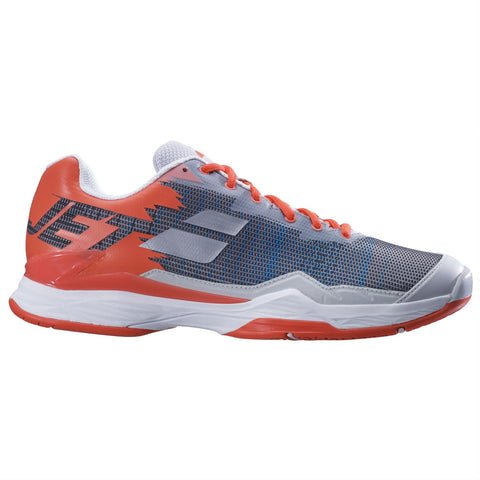 Babolat Jet Mach I AC Mens Tennis Shoe (Silver/Fluo Strike)