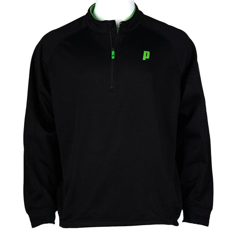 Prince Mens Team 1/4 Zip Sweater (Black) - RacquetGuys