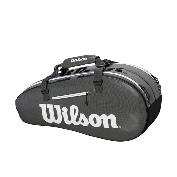 Wilson Super Tour 2 Compartment 6 Pack Racquet Bag (Grey/Black)
