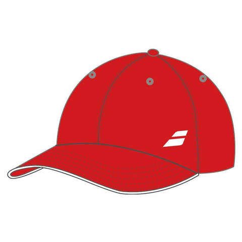 Babolat Basic Logo Hat (Red) - RacquetGuys
