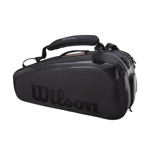 Wilson Super Tour Pro Staff 15 Pack Racquet Bag (Black) - RacquetGuys