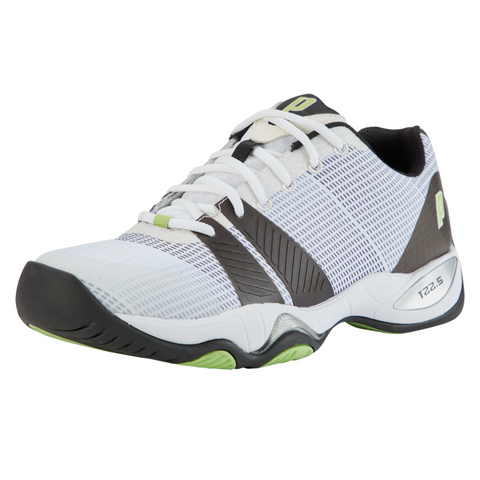 Prince T22.5 Men's Tennis Shoe (White/Green/Black) - RacquetGuys