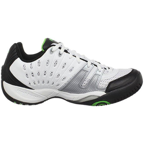 Prince T22 Mens Tennis Shoe (White/Black/Green) - RacquetGuys