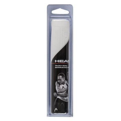 HEAD Tacki-Mac Serrated MT Racquetball Grip (White) - RacquetGuys