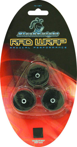 Black Knight RAD Wrap Overgrips 3 Pack (Black) - RacquetGuys