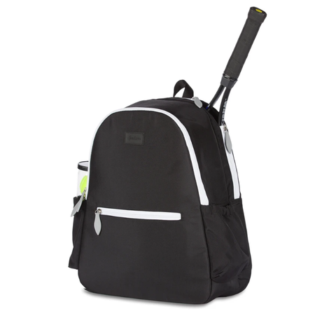 Ame & Lulu Courtside Black Backpack Racquet Bag