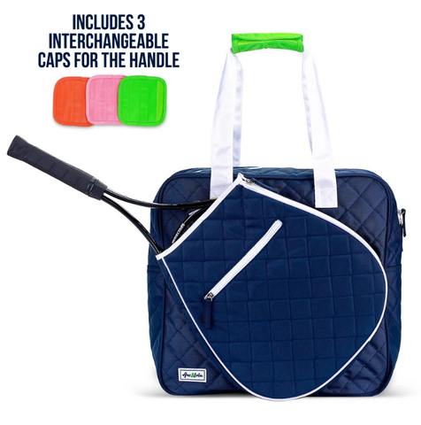 Ame & Lulu Sweet Shot Tennis Tote (Navy/White)