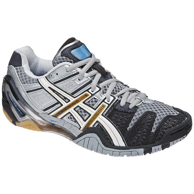 new style 0e22b f5963 Asics Gel Blast 4 Womens Indoor Court Shoe (Charcoal/White/Gold)