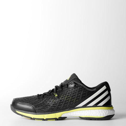 adidas Energy Boost Men's Indoor Court Shoe (Dark Grey/White/Yellow)