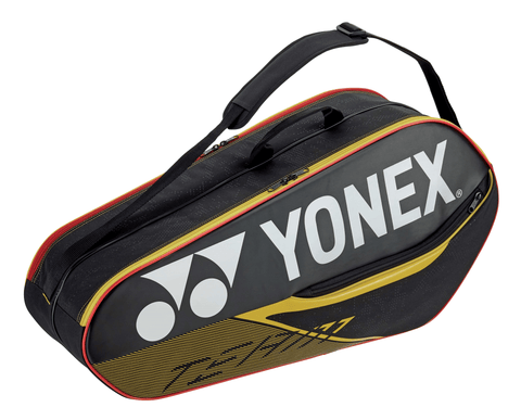Yonex Team 6 Pack Racquet Bag (Black/Yellow) - RacquetGuys