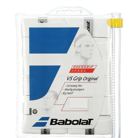 Babolat VS Overgrip 12 Pack (White) - RacquetGuys
