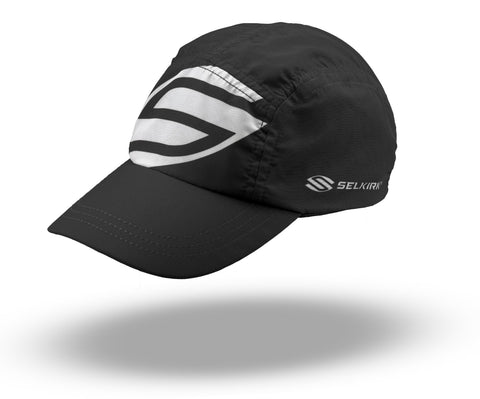 Selkirk Big Logo Jockey Hat (Black) - RacquetGuys.ca