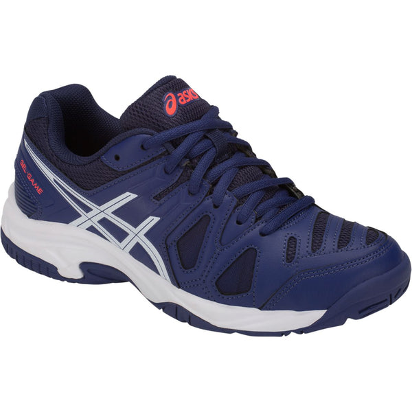 Asics Gel Game 5 Gs Junior Tennis Shoe (Blue Print/White)