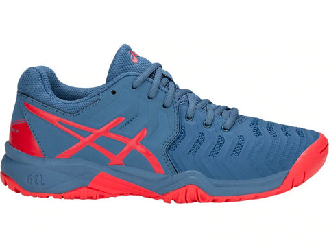 Asics Gel Resolution 7 Gs Junior Tennis Shoes (Red Alert)