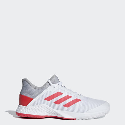 outlet store 86ed8 ac69b adidas Adizero Club Mens Tennis Shoe (WhitePinkGrey)