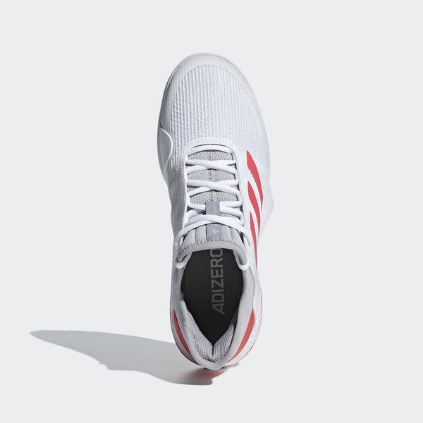 adidas Adizero Club Men's Tennis Shoe  (White/Pink/Grey) - RacquetGuys