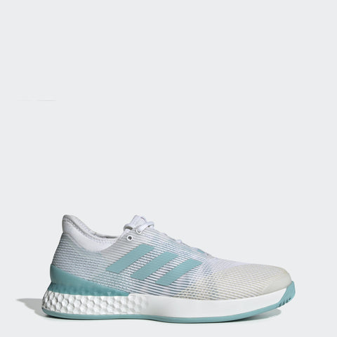 adidas Adizero Ubersonic 3 x Parley Men's Tennis Shoe (White/Blue Sprint)