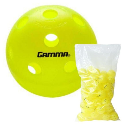Gamma Photon Outdoor Pickleball Yellow (Pack of 60) - RacquetGuys
