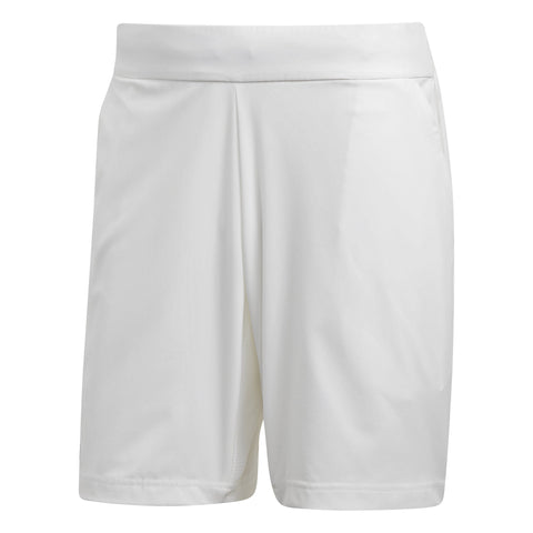 adidas Men's Stretch Shorts (White) - RacquetGuys
