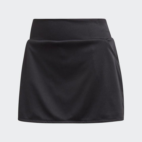 adidas Women's Club Skirt (Black/Matte Silver/White) - RacquetGuys