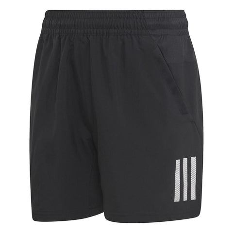 adidas Boy's 3-Stripes Club Shorts (Black/White) - RacquetGuys