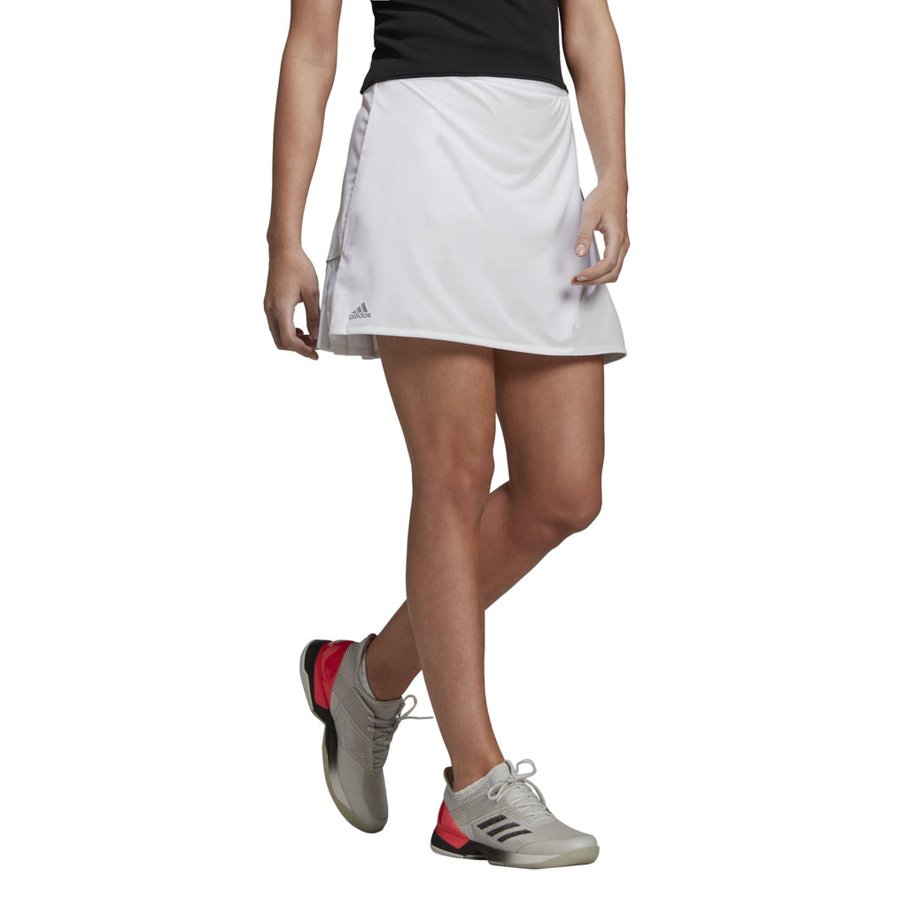 adidas Women's Club Long Skirt (White) - RacquetGuys