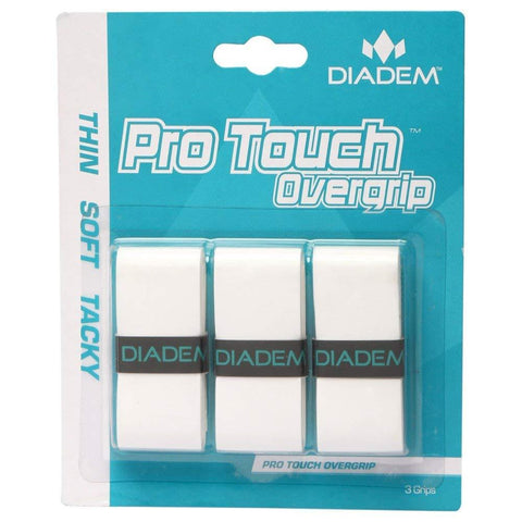 Diadem Pro Touch Overgrip 3 Pack (White) - RacquetGuys