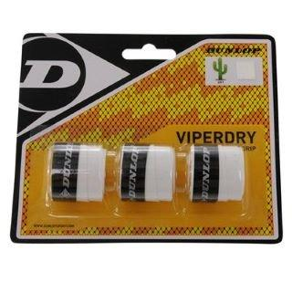 Dunlop ViperDry Overgrips (White) - RacquetGuys