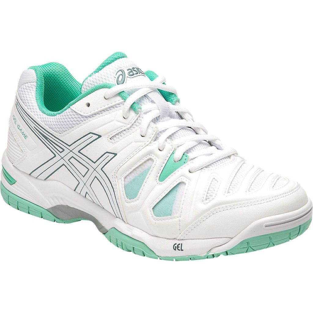 new arrival 30c63 4d862 Asics Gel Game 5 Womens Tennis Shoe (White/Blue)