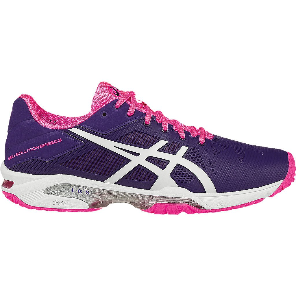 Asics Gel Solution Speed 3 Womens Tennis Shoe (Purple/White/Pink)