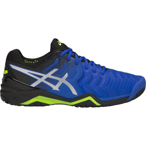 Asics Gel Resolution 7 Mens Tennis Shoe (Blue/Silver)