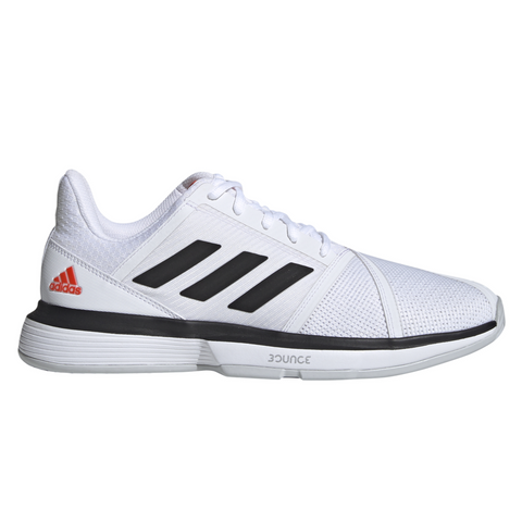 adidas CourtJam Bounce Men's Tennis Shoe (White/Black/Red) - RacquetGuys