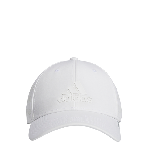 adidas Men's Gameday III Stretch Fit Hat (White) - RacquetGuys