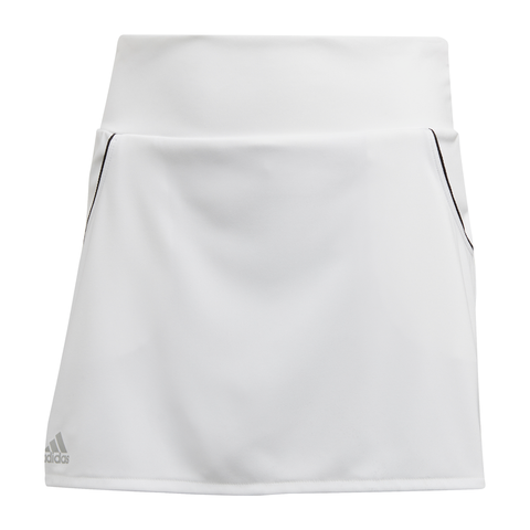 adidas Girl's Club Skirt (White/Silver/Black) - RacquetGuys