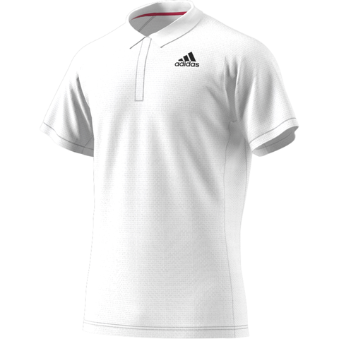 adidas Men's Freelift HEAT.RDY Polo (White) - RacquetGuys