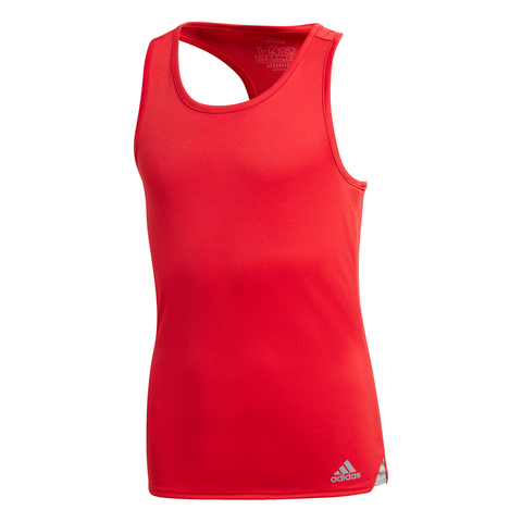 adidas Girl's Club Tank Top (Scarlet) - RacquetGuys
