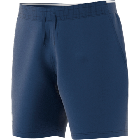 adidas Men's Club Stretch Woven 7 Inch Shorts (Tech/Indigo) - RacquetGuys
