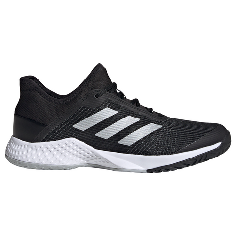 adidas Adizero Club Men's Tennis Shoe (Black/Silver/White) - RacquetGuys