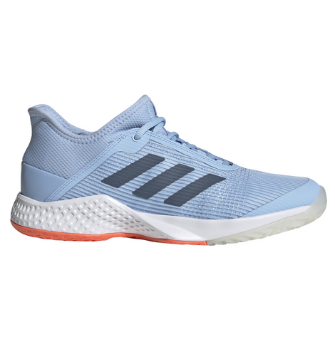 adidas Adizero Club Women's Tennis Shoe (Light Blue/White) - RacquetGuys