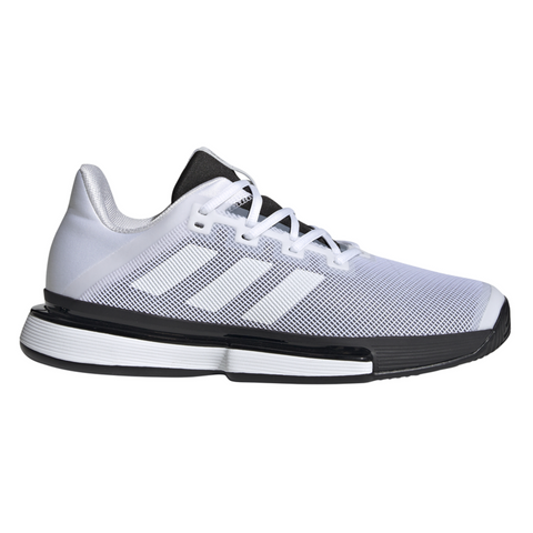 adidas SoleMatch Bounce Men's Tennis Shoe (White/Black) - RacquetGuys