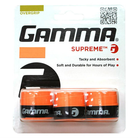 Gamma Supreme Overgrips 3 Pack (Orange) - RacquetGuys