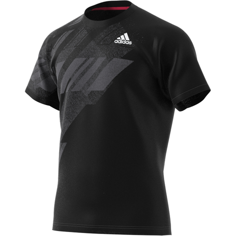 adidas Men's Freelift Print HEAT.RDY Top (Black) - RacquetGuys