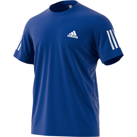 adidas Men's 3 Stripes Club Top (Royal Blue) - RacquetGuys