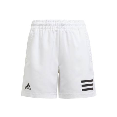 adidas Boys Club 3 Stripes Shorts (White/Black) - RacquetGuys