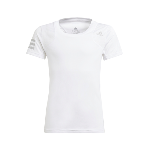 adidas Girls Club Top (White/Grey) - RacquetGuys