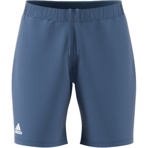 adidas Men's Club Stretch Woven 9-Inch Shorts (Crew Blue) - RacquetGuys